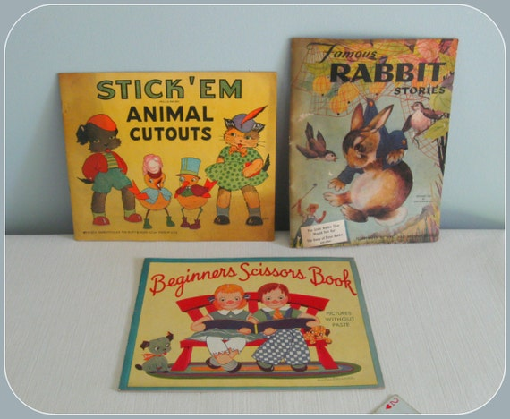 """R E S E R V E D """""""" 1930s - 40s Children's Books ... cute frame-worthy pictures"""