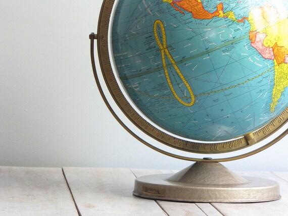 vintage scholastic duogyral world globe