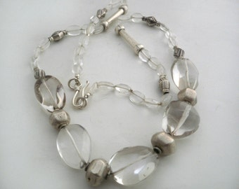 Clear Quartz  Maxi Necklace Sterling Silver