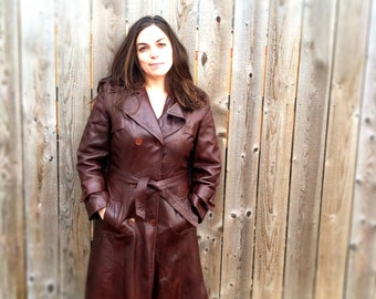 Vintage 1970s lined leather jacket