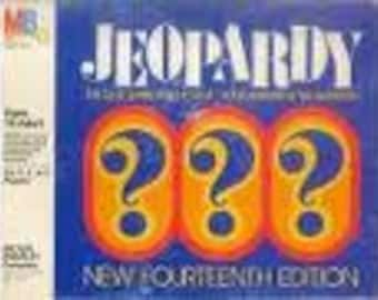 Vintage 1982 JEOPARDY QUIZ Game Free Shipping FOURTEENTH Edition by Milton Bradley vgc Popular tv Show Home Game  Edition