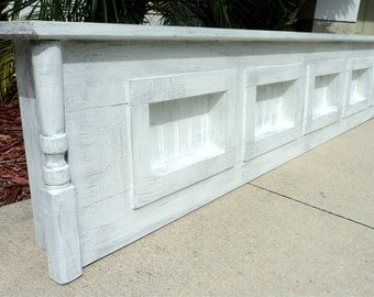 King Size Headboard, Window Cornice Or Primitive Display Shelf
