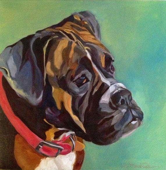 Boxer Dog Portrait Print