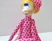 Clay Female Art Doll Ooak Doll Cold Porcelain