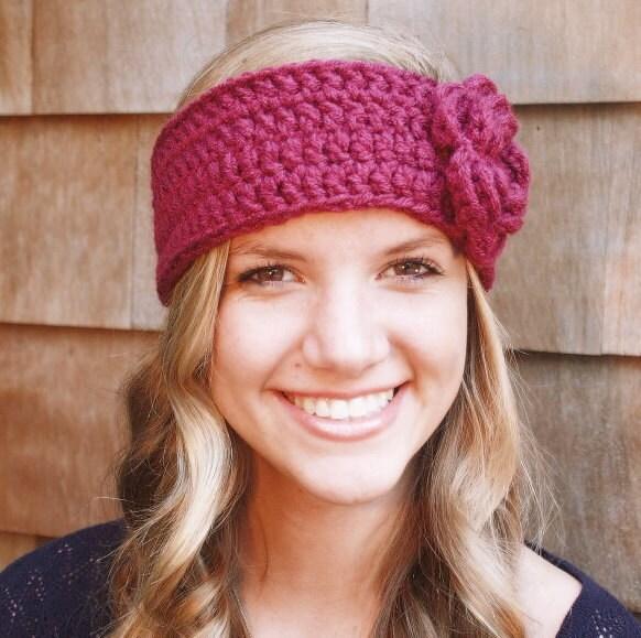 Crochet Headbands : RESERVED FOUR Crochet Headbands with Flowers by delightcrochet