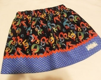 Buy Any 2 Skirts and Get 1 FREE, It's All About Numbers Skirt, Size 2, 3, 4, 5, 6, 7, 8, 9, 10, and 12