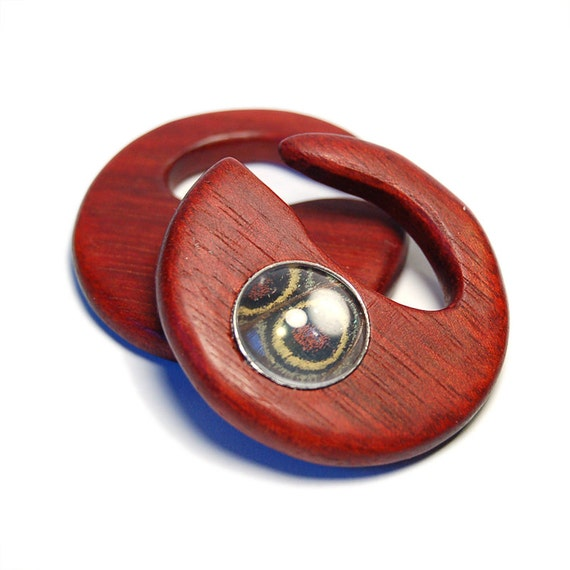 4g Bloodwood Hanging Style with Morpho Deidemia Pre-Made - SALE