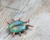 Brooch - Emerald green Bug - Dariami