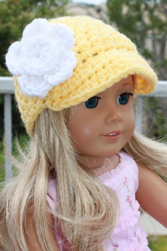 Items Similar To Crocheted Doll Beanie Hats Fits 18