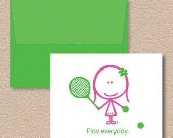Tai Tennis Note Cards