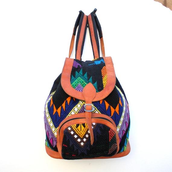 Vintage Ethnic Woven Backpack