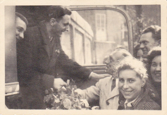 Man Greeting People From Car Vintage Photograph (LL)