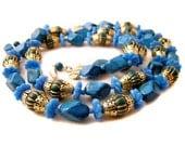 Boho Chic Necklace plastic Bead Turquoise