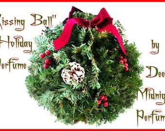 KISSING BALL Perfume Oil:  Holiday Perfume, Christmas Perfume, Yule, Winter Fragrance