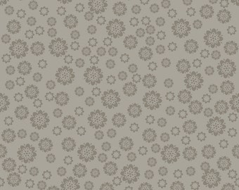 Verona Gray Flowers by Emily Taylor Design for Riley Blake, 1/2 yard