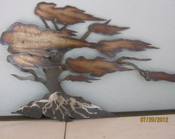 Cypress Tree/ Metal Sculpture/Metal Wall Hanging/ Metal tree By Ron Hinshaw Signed 1984 By Gatormom13