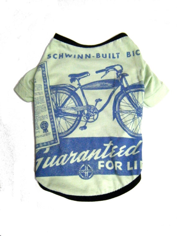 Schwinn Bicycle Upcycled Dog Tee in Small