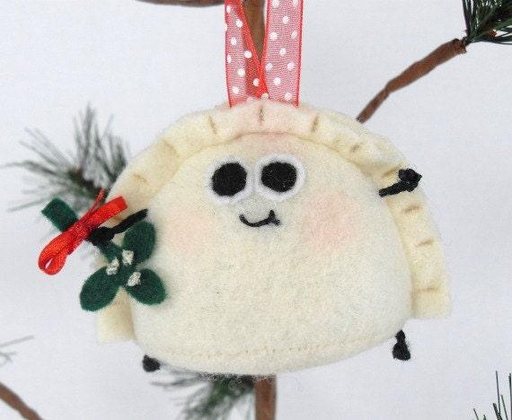 Pierogi Plush Felt Christmas and Holiday Ornament