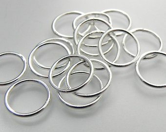 Sterling Silver Jump Ring 10mm Soldered Closed Sterling Silver Jewelry Supply Finding USA