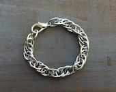 Silver Chain Bracelet, Silver Bracelet,  intertwined, Chain, Bohemian, Chunky Chic