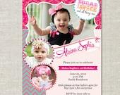 Sugar and Spice Photo Birthday Invitation (Digital or Printed)