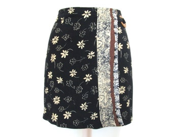 90's Floral High Rise Mini skirt size - S