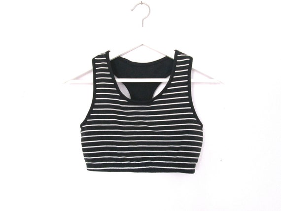 90's Racer back striped crop top size - S