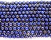 Full Strand Lapis Lazuli Round Beads 6mm - 16 Inch