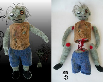 Tombie the zombie Interactive toy  :  Pattern only IMMEDIATE DOWNLOAD