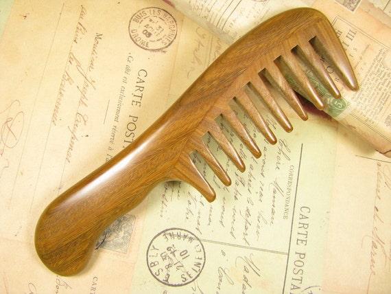 Verawood Hair Comb Wide Teeth Long Handle