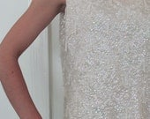 The 1960's Ivory Sequined Shimmery Tank Sweater