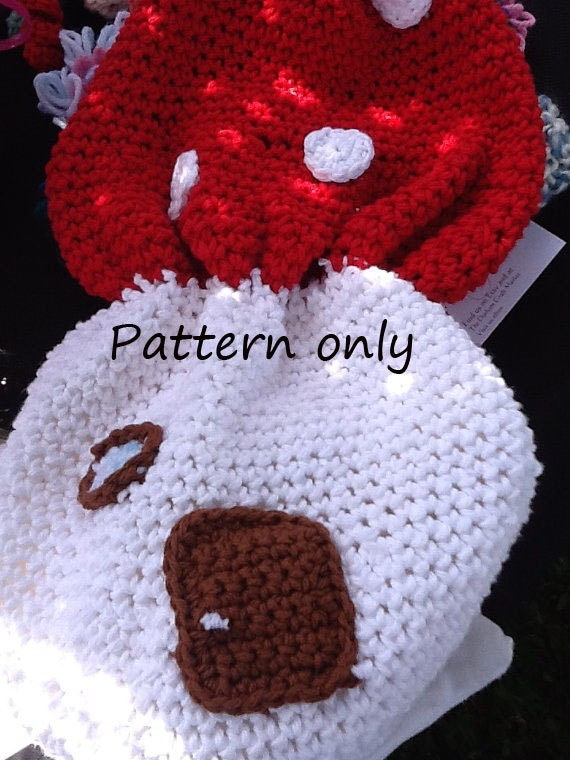 Fairy House, Mushroom House Back pack, Fairy Play House PDF Pattern