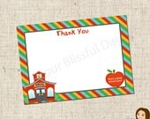 PRINTABLE Back to School Thank You Cards #701