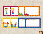 PRINTABLE Boy Bounce House Label Tents (Your choice of boy and bounce house) #508