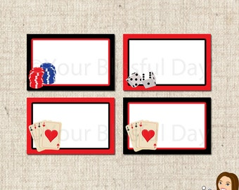 PRINTABLE Poker Party Label Tents #111