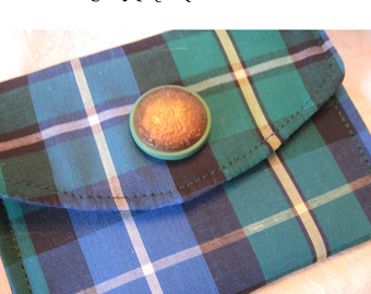 Clan McNeil tartan wallet cell phone eyeglasses pouch case