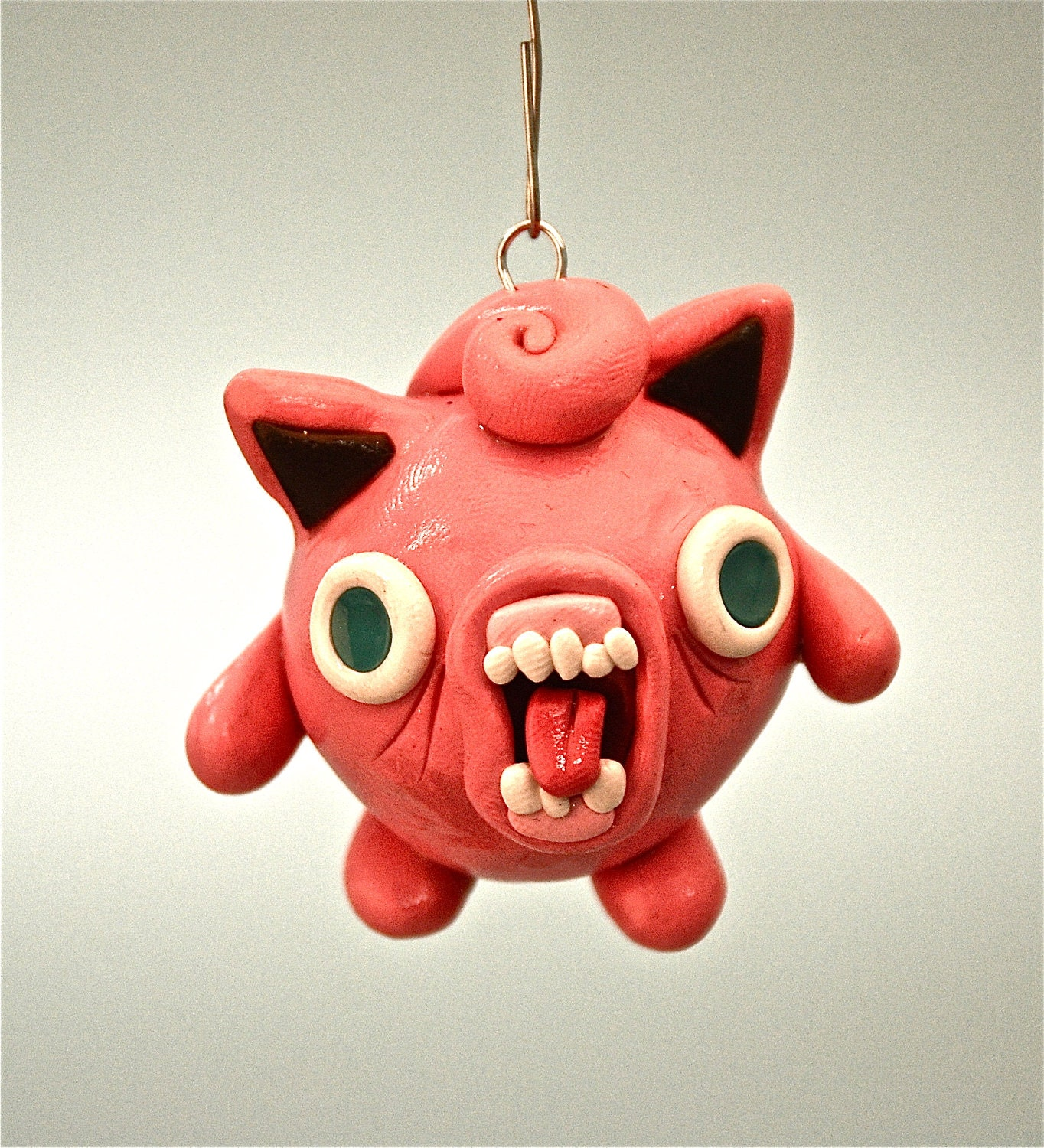 Ugly jigglypuff christmas ornament