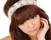 Vintage Lace Pearl Flower Headband
