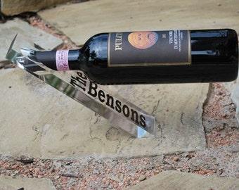 Personalized Wine Holder - Acrylic Wine Bottle Holder - Balance