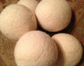 Sweet Gumball wool dryer balls--ivory snow