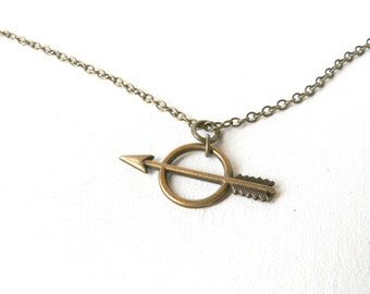 Reserve to C  2 Artemis arrow  and bow necklace ( brass antiqued, cheyenne, geometric, bohemian, goddess, tribal, native ) 25