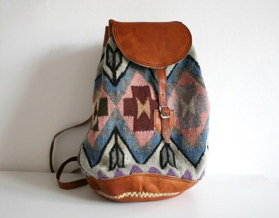 Pastel Navajo Woven Backpack