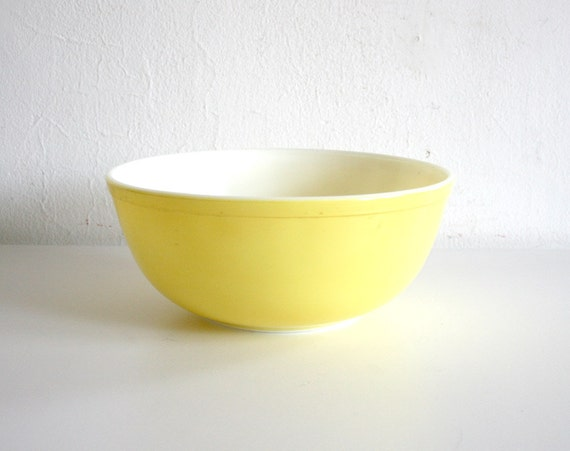 RESERVED FOR LAURA Yellow Pyrex Bowl
