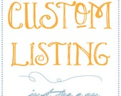 CUSTOM LISTING - TheMadeShop