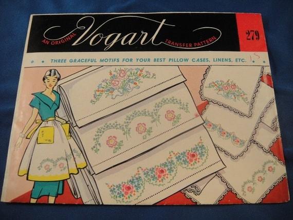 Vogart Transfer Pattern No 279 Graceful Floral  Motif