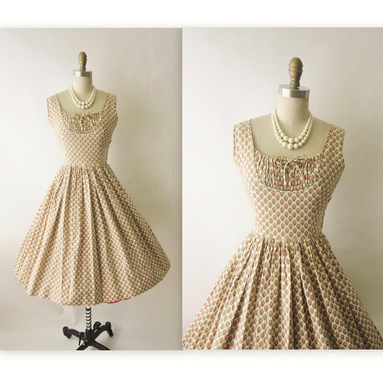 50 s summer dress vintage 1950 s floral print