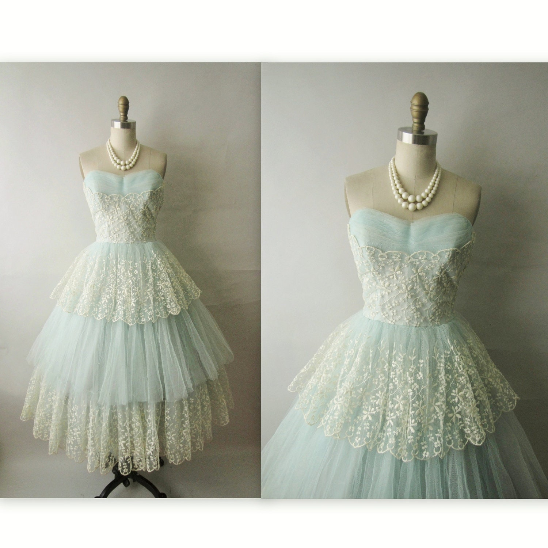 50's Prom Dress // Vin...