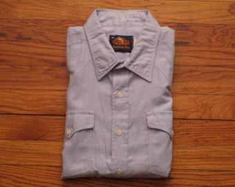 mens vintage oxford western shirt