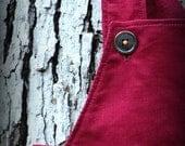Garnet Red Corduroy - A Good Day OVERALLs