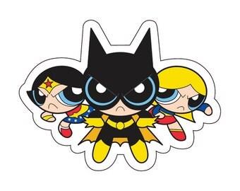 Individual Diecut Superhero Vinyl Sticker